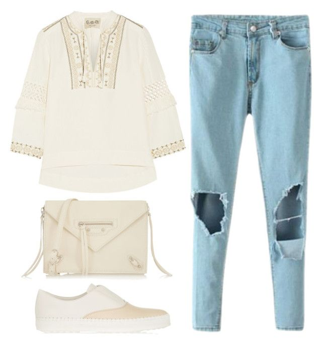 """Untitled #311"" by kholli-1 ❤ liked on Polyvore featuring Tod's, Sea, New York and Balenciaga"