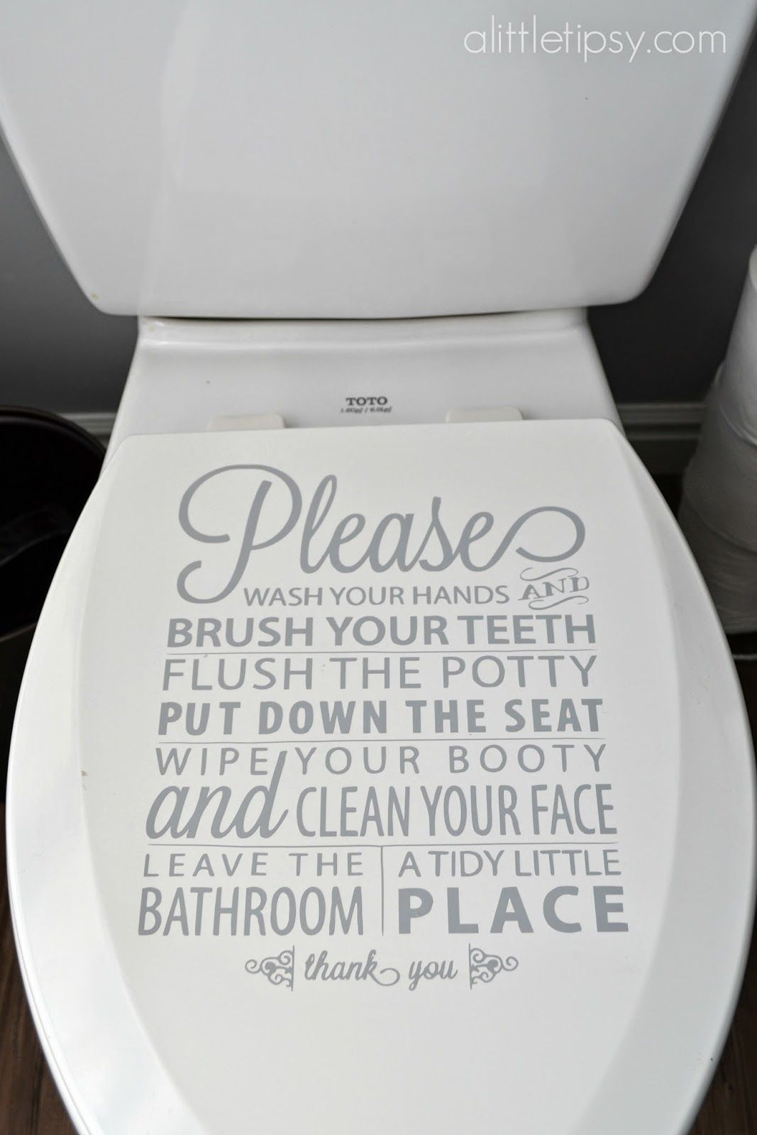 Bathroom Rules On The Toilet Lid A Little Tipsy Bathroom Rules Bathroom Rules Sign Toilet Rules