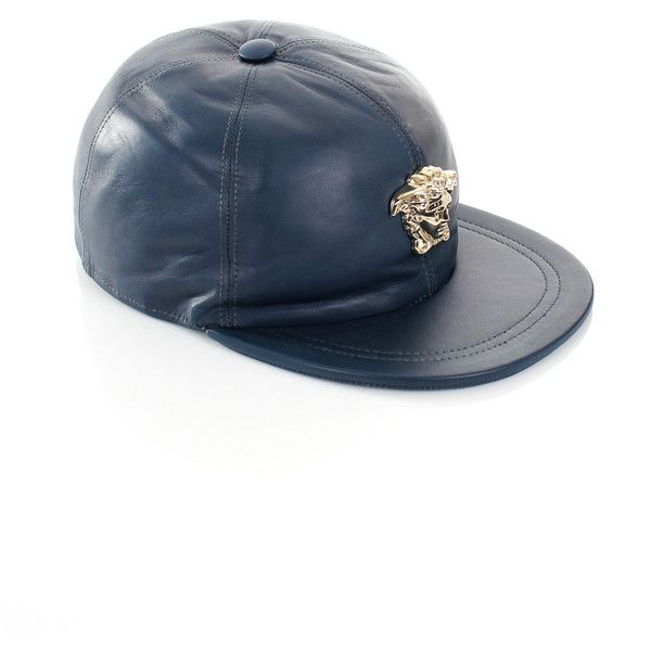 563c3074a Versace Gold Medusa Leather Cap (20,900 INR) ❤ liked on Polyvore ...