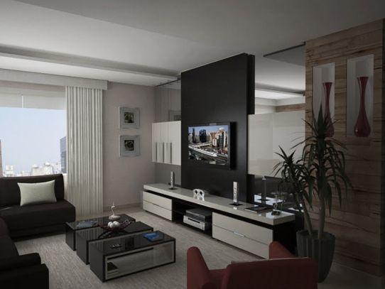 fotos de modelos de salas de tv decoradas modernas e