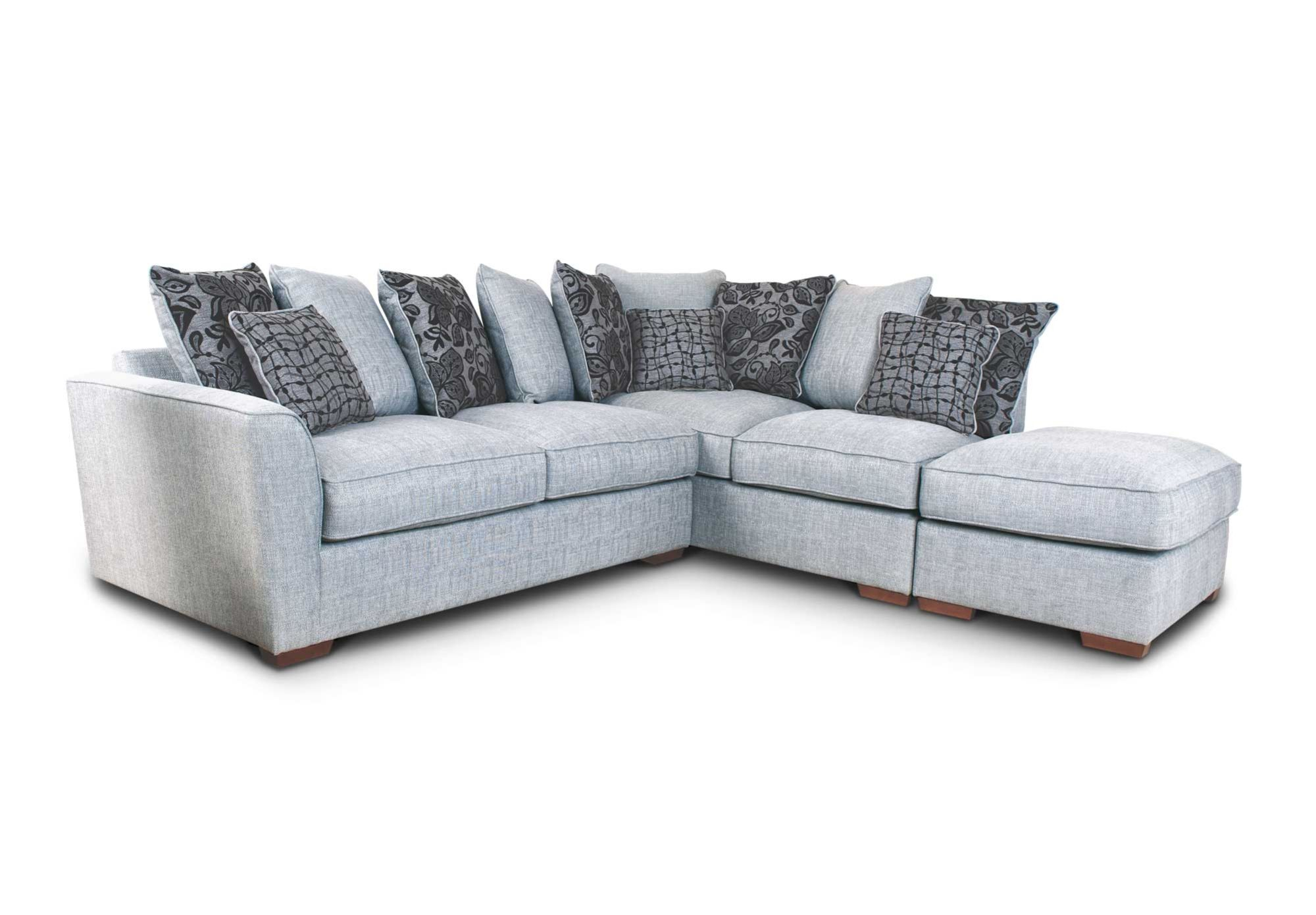 RHF scatter back chaise sofa with footstool - Fable - Living Room ...