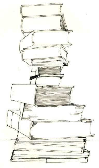 Drawing: Bookstack | Book drawing, Book tattoo, Art