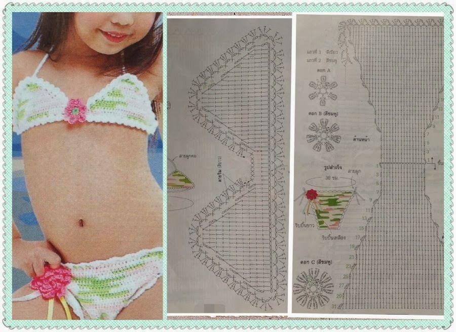 Pin de ange almiron en niñas summer crochet. | Pinterest | Bikinis ...