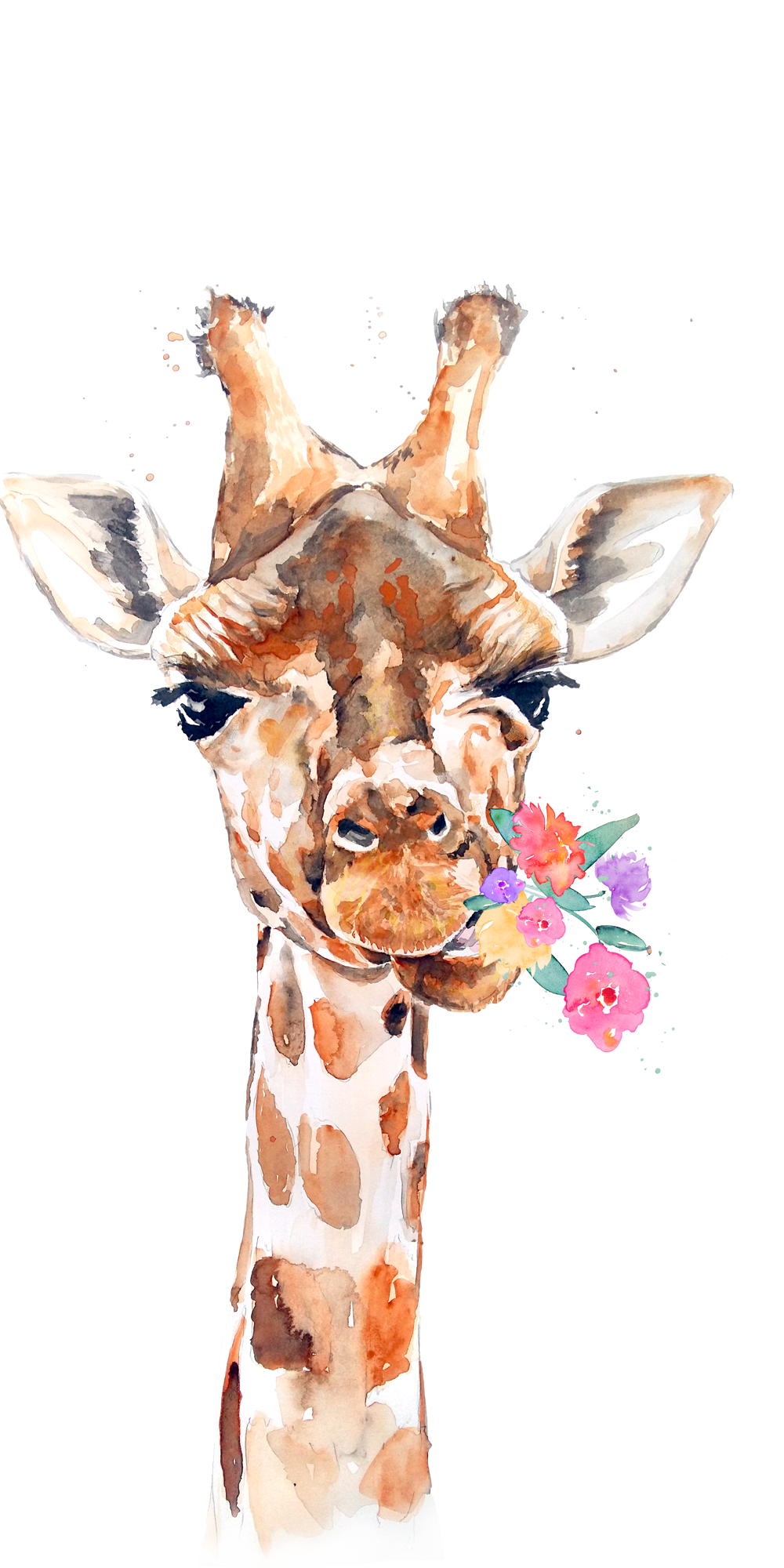 Munching Giraffe. Casetify iPhone Art Design Animal