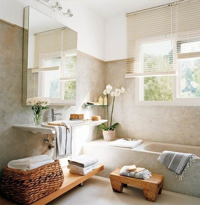 minimalistisches Bad nach feng shui gestalten-natürliche ...