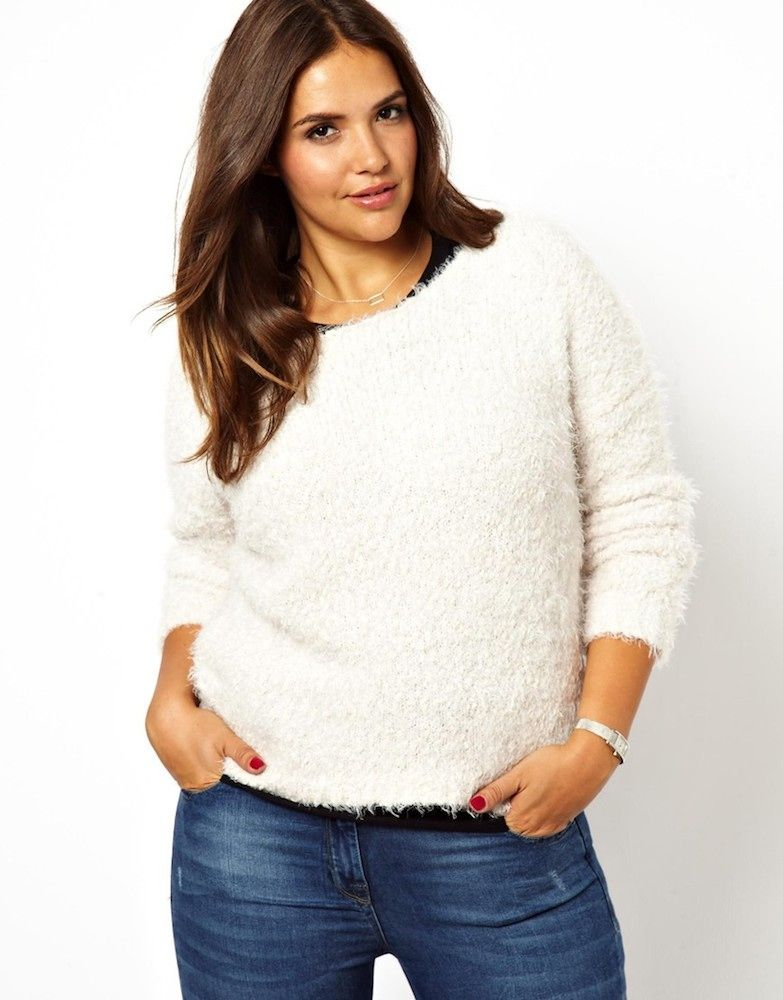 0cd7dcc097 New Look Inspire Fluffy Boucle Jumper 4 '90s Trends for Plus-Size Ladies  Plus
