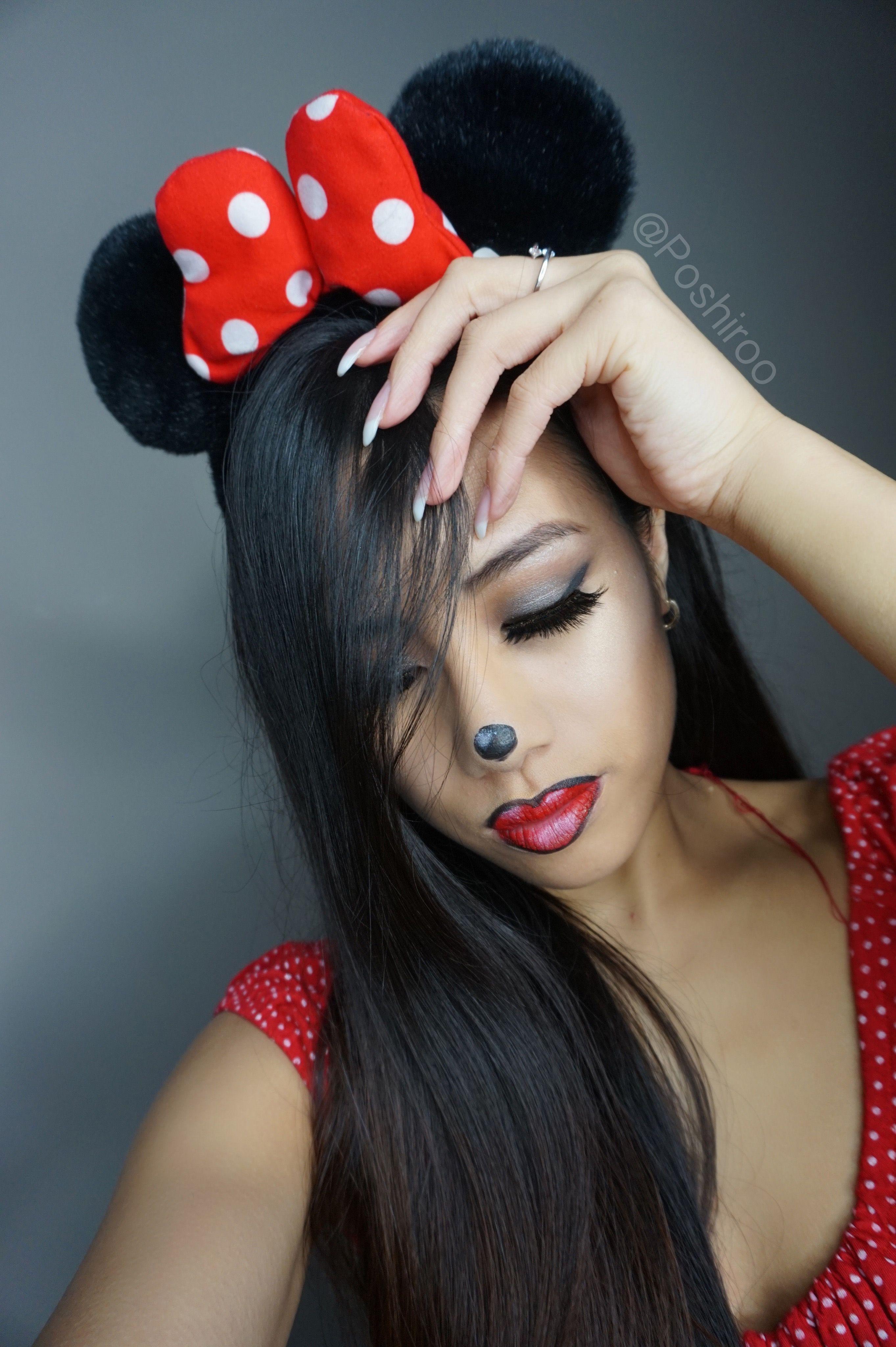 Pretty Minnie Mouse Halloween Makeup Tutorial Ideas Looks