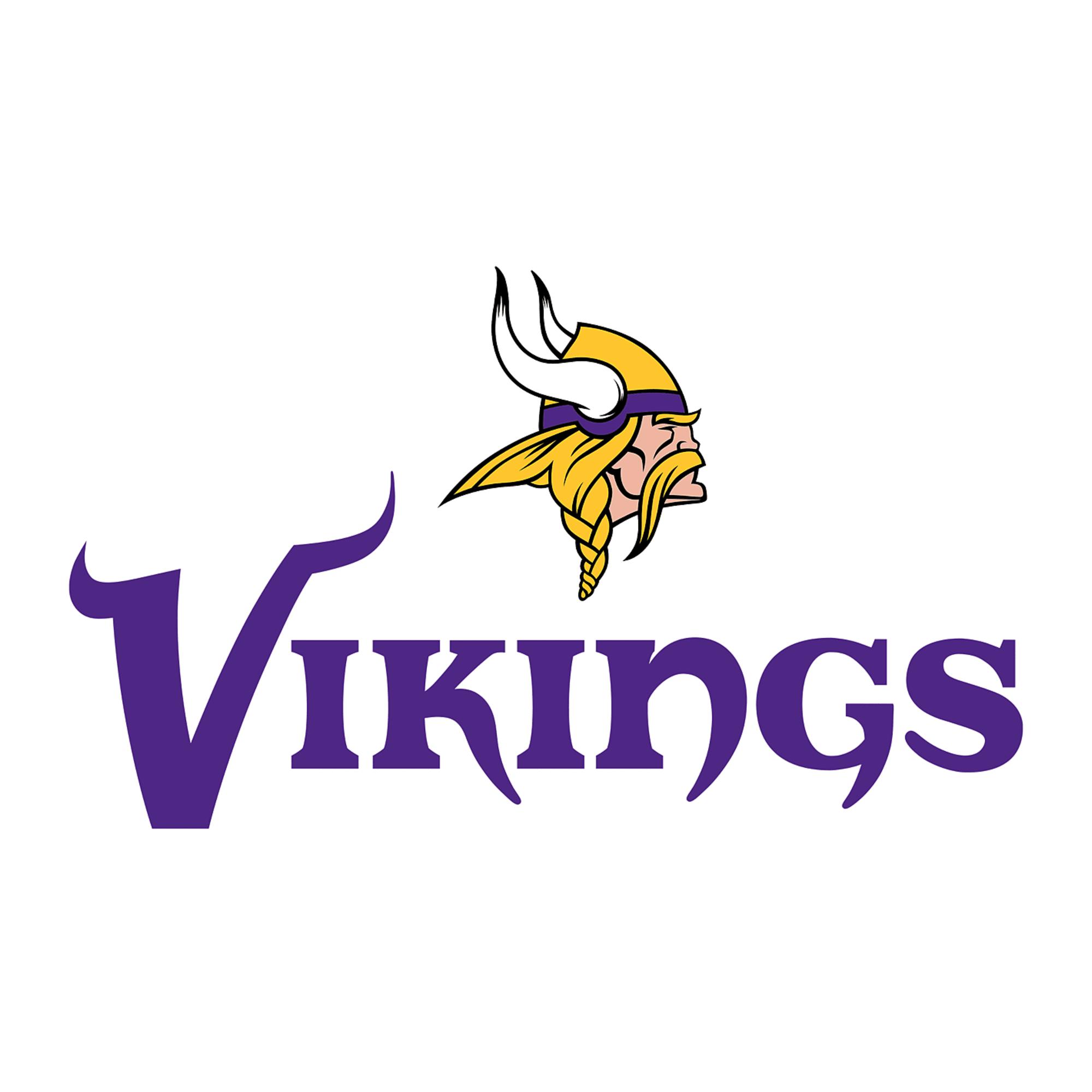 Minnesota Vikings Logo Giant Nfl Transfer Decal Minnesota Vikings Logo Viking Logo Minnesota Vikings