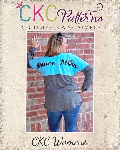 Create Kids Couture - Dallas' Women's Spirit Jersey PDF Pattern, $6.00 (http://ckcpatterns.com/dallas-womens.html)