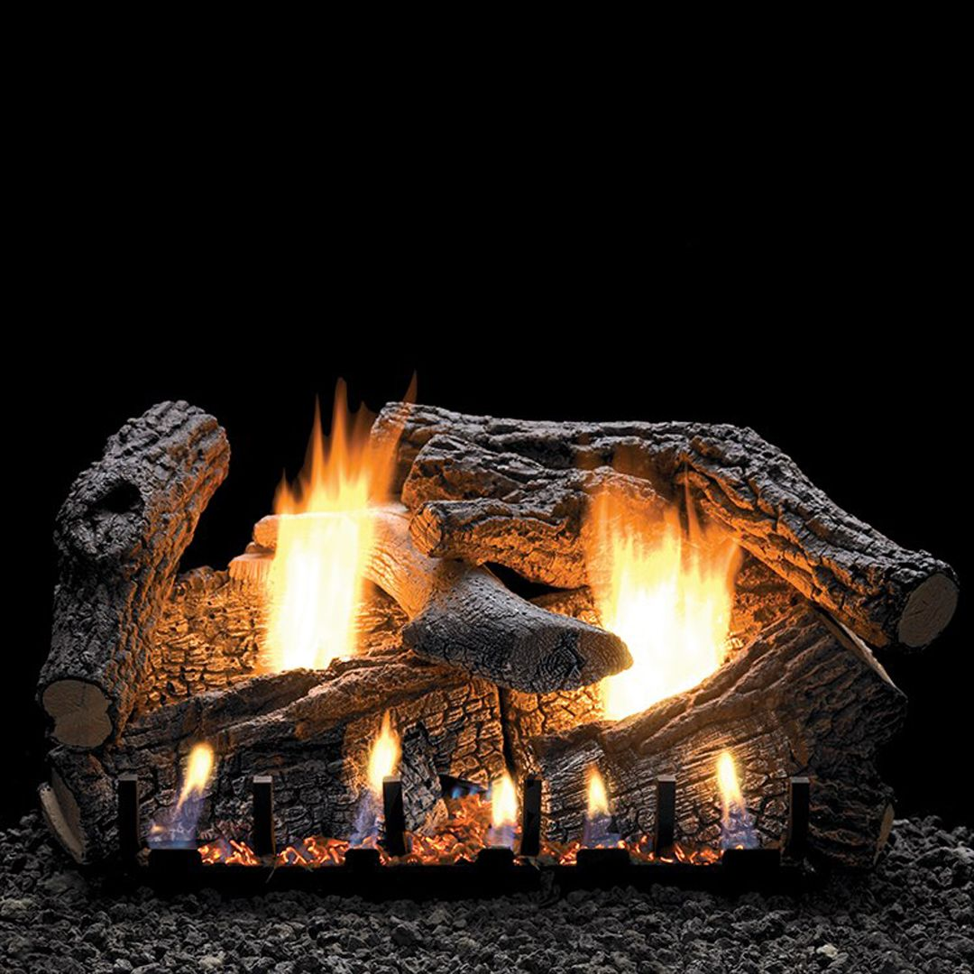 White Mountain Hearth Vent Free Log Set Creates A Consistent