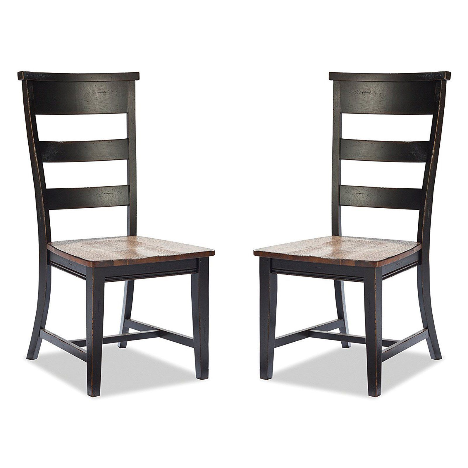Imagio home winchester ladder back side chair set of intc