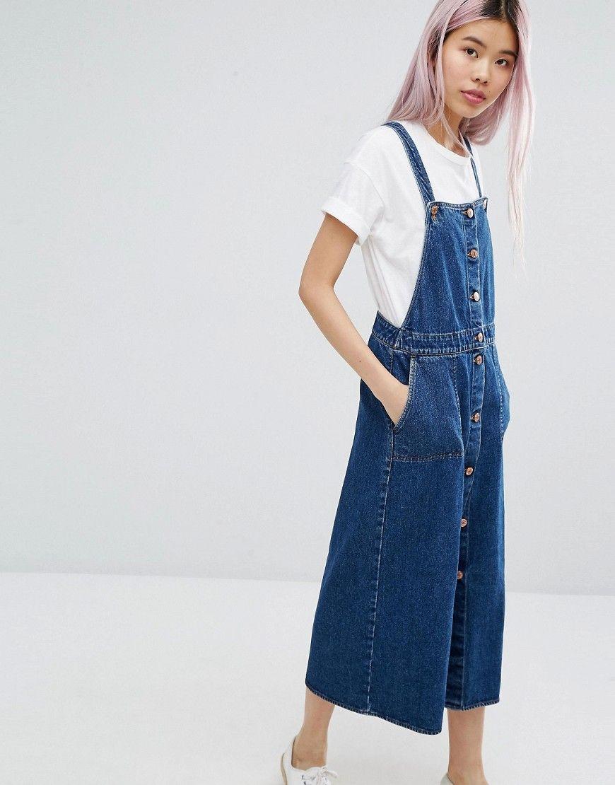 25ede2cf782a4 Shop Monki Denim Dress at ASOS. Discover fashion online. Dungarees, Jean  Overalls,