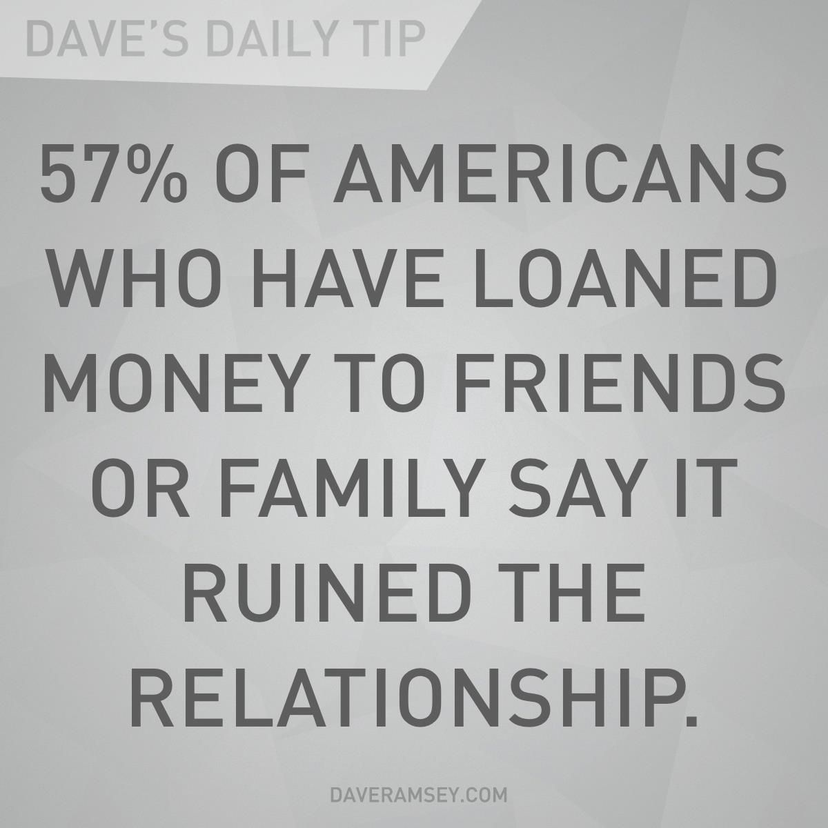 """Money And Friends Quotes: """"57% Of Americans Who Have Loaned Money To Friends Or"""