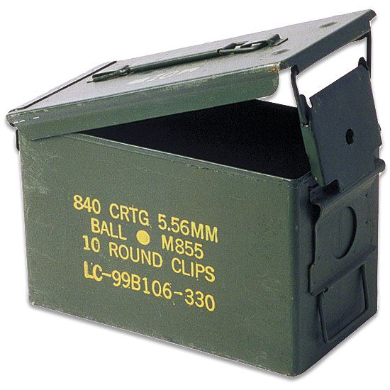 Ammo Can 50 Caliber 11x7x5 5 Grade I Lever Lock Lid Steel Flat Folding Carry Handle Stackable Ammo Cans Ammo Box 50 Caliber