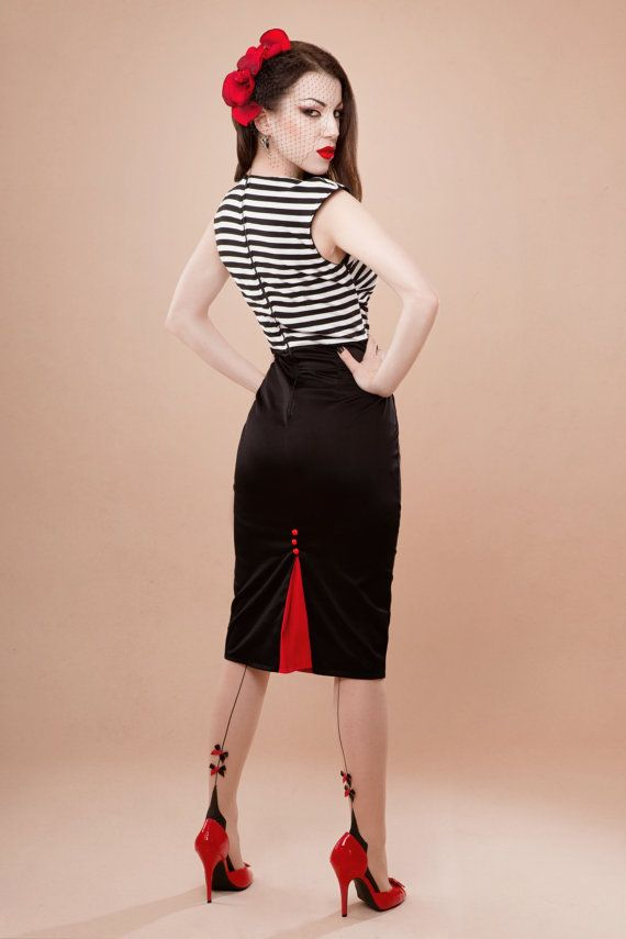 Striped Dress Rockabilly Style Clothing Pinterest Rockabilly Style Rockabilly And Pinup