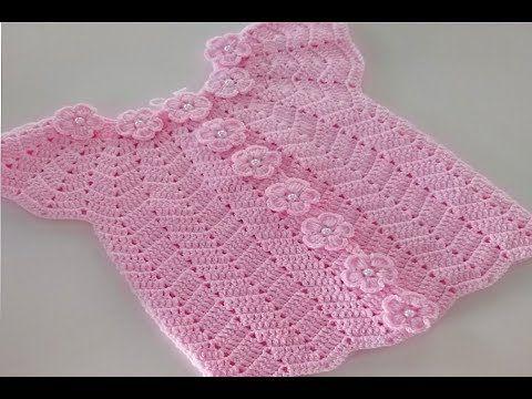 Tig isi bebek yelegi/zigzag model yelek yapimi/crocheted baby vest - YouTube #uncinettoperbambina