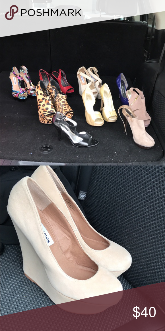 posición labios es bonito  Women's shoes Brands like Steve Madden, Jessica Simpson's shoes . All pairs  are 5.5 size Each pair 40.00 or the lot for 250.00 Steve Madden Shoes  Platforms