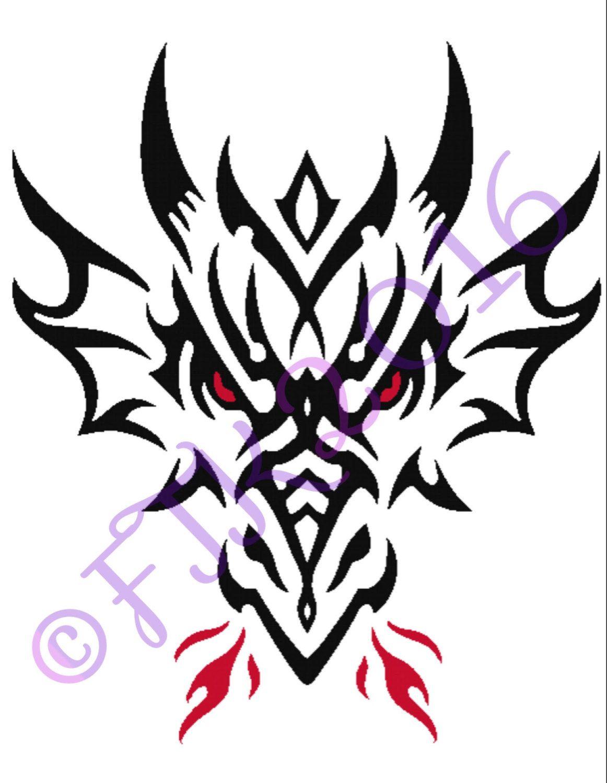 Tribal Dragon Cross Stitch Pattern by 4EverTreasurdKpsakes ... - photo#19