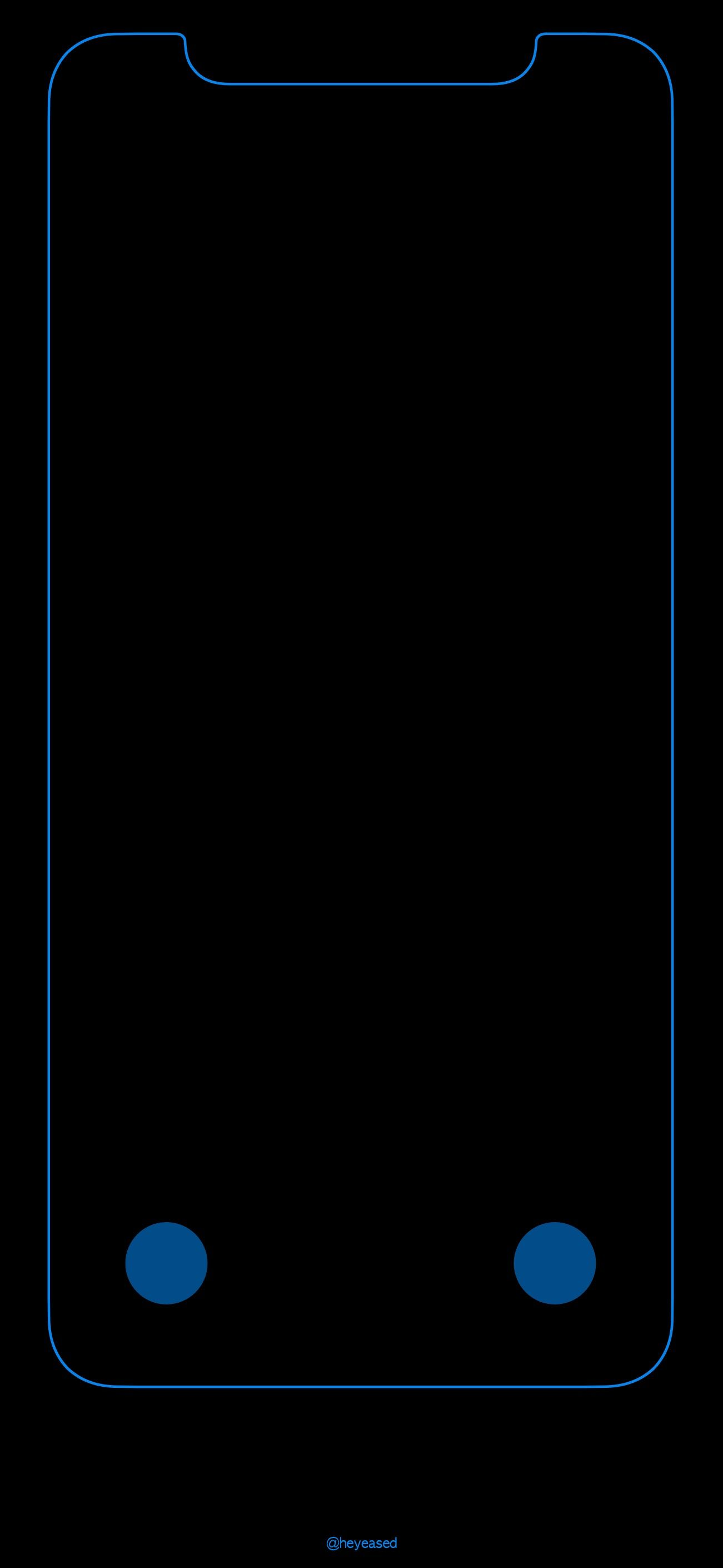 iPhone X -Blue Locked Screen Outline ...