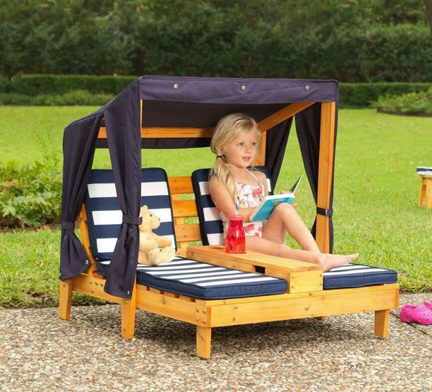 Lounger made from pallets | pallet ideas | Pinterest | Muebles niños ...