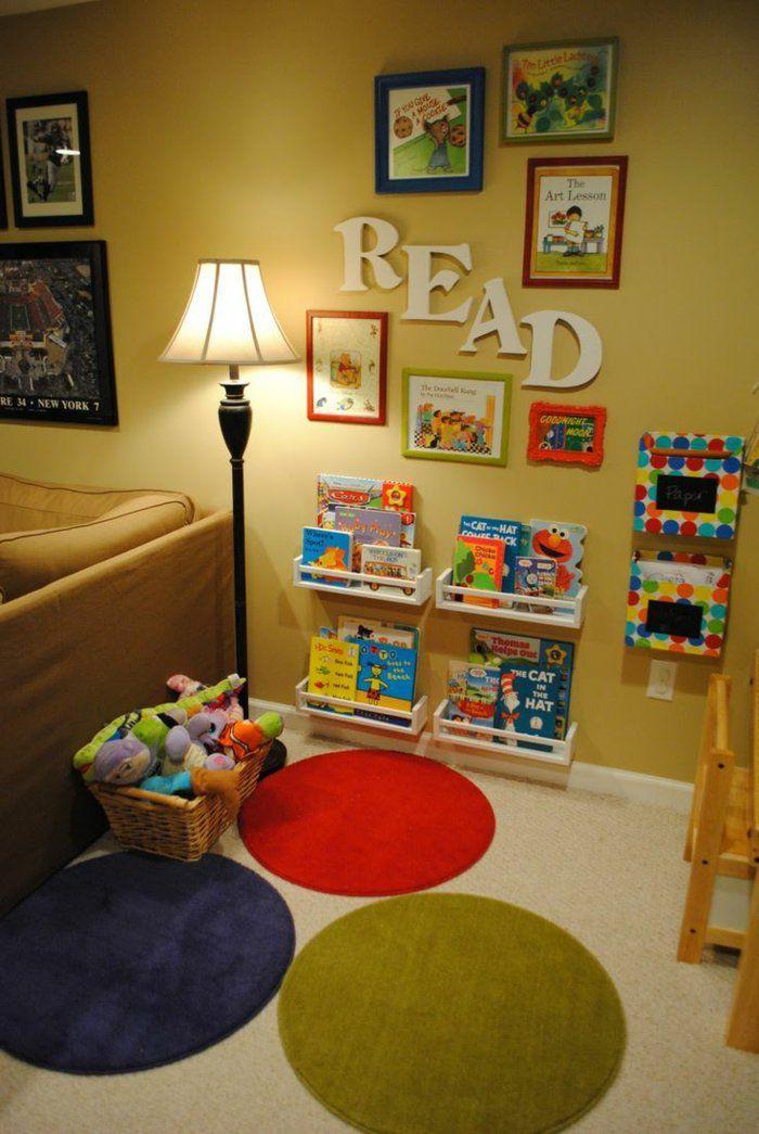 Kinderzimmer gestalten leseecke sitz kisten schreibtisch leseecke ...