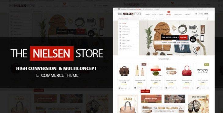 Nielsen The ultimate e-commerce Wordpress Theme #premium wordpress ...