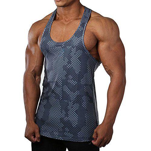 Men/'s Gym Muscle Shirt Tank Top Bodybuilding Sport Stringer Fit Athletic Vest