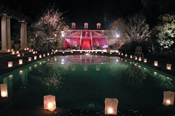 Night Pool Party Party Wedding Pool Party Decorations Party Party Themes