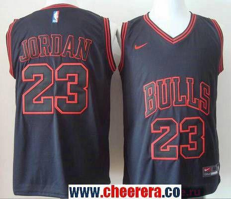 Men's Chicago Bulls #23 Michael Jordan 2017 Black Bulls Fashion ...