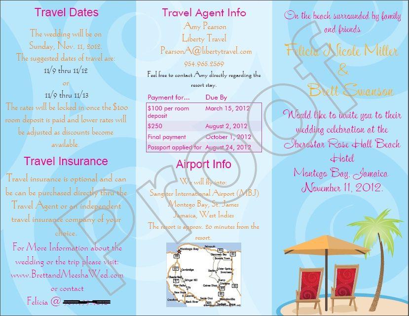 Travel Agent Info Destination Wedding Travel Travel Agent