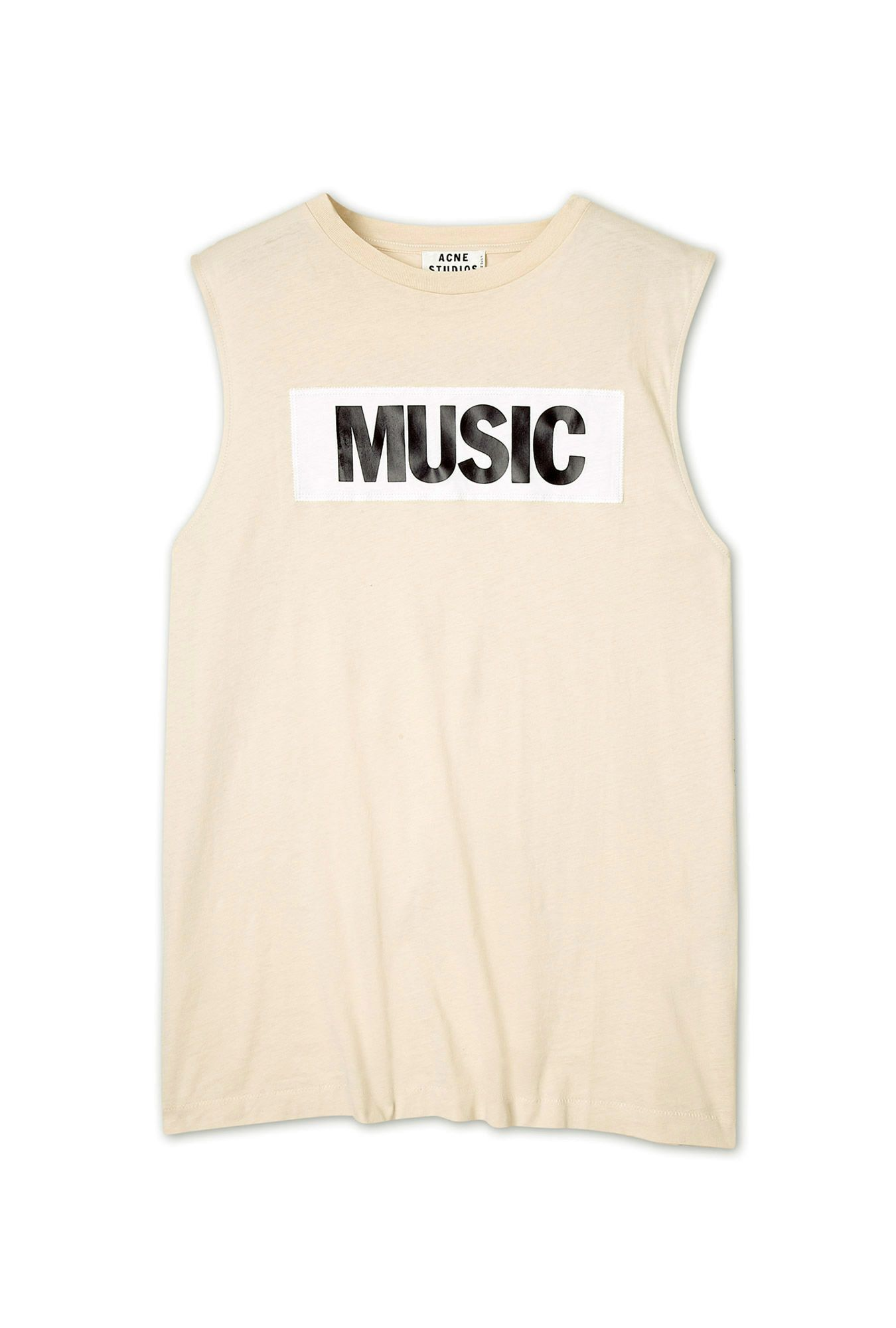 Zone Cotton Music New Sleeveless T-Shirt by Acne