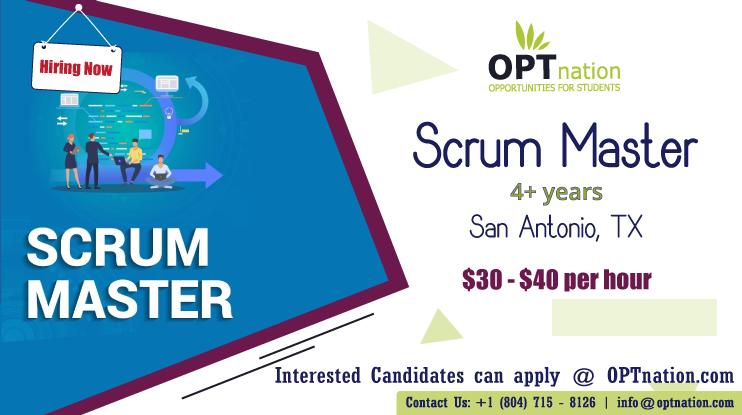 We're Hiring Scrum Master in San Antonio, TX. Build your