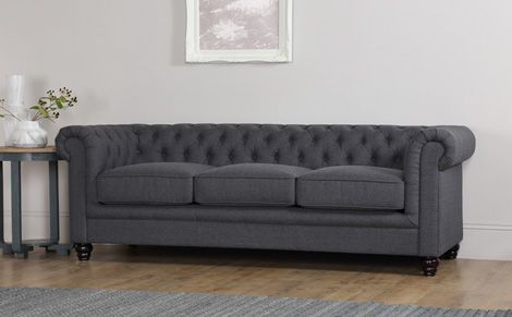 Hampton 2 Seater Fabric Chesterfield Sofa (Slate Grey)   Living Room    Pinterest   Fabric Chesterfield Sofa, Chesterfield Sofa And Chesterfield