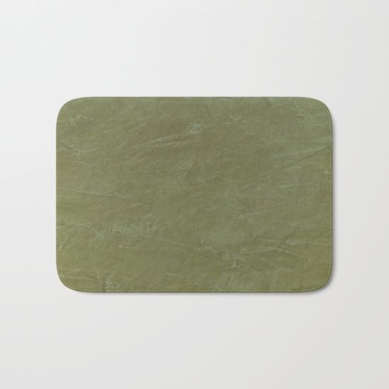 Bath Mat Italian Style Tuscan Olive Green Stucco Wall Decor