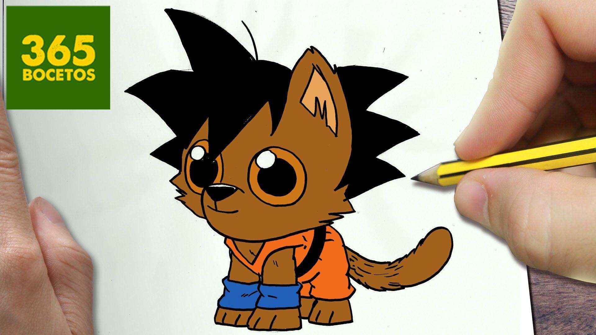 Como Dibujar Goku Perro Kawaii Paso A Paso Dibujos Kawaii