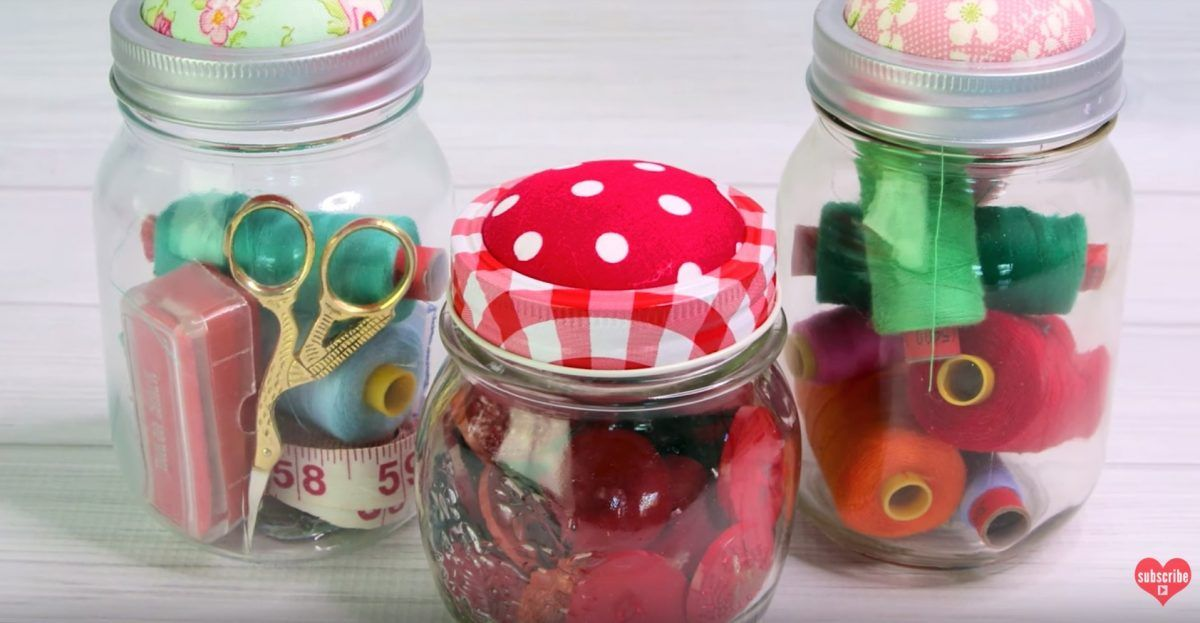 How To Your Jars Into Super Cute Pincushions Pin