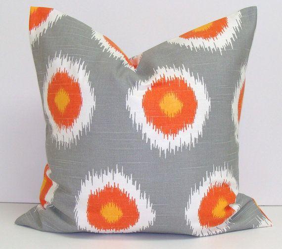 Orange Giraffe Pillow Cover 16x16