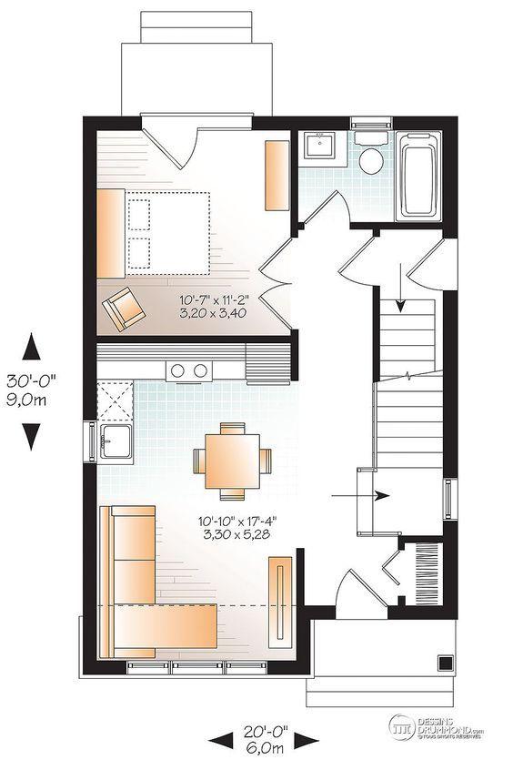 Détail du plan de Maison unifamiliale W1908 lot Pinterest