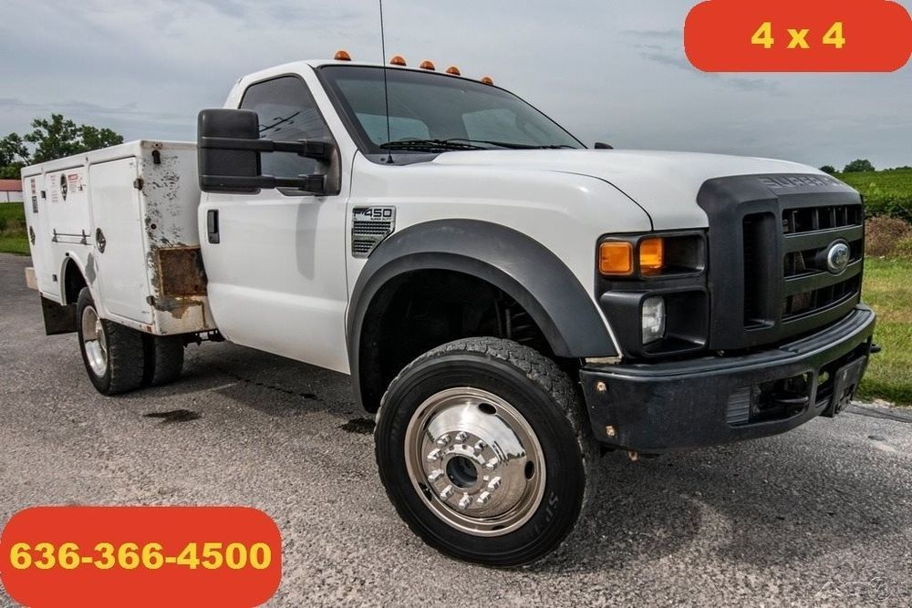 2008 Ford F450 Xl Used 4wd Service Truck Mechanic Work V10 1 Owner