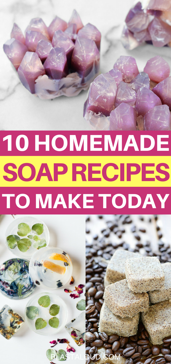 10 Homemade Soap Recipes That You Can Make Today. An Amazing Collection Of Easy  DIY ...