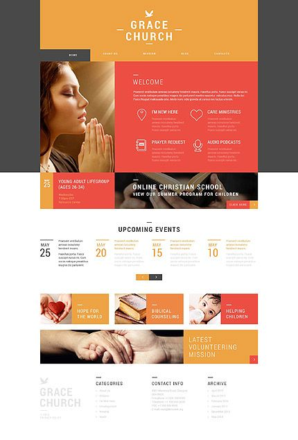 Grace Church #Wordpress #template. #themes #business #responsive ...