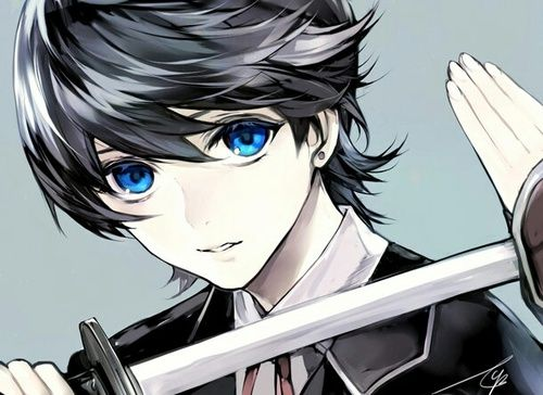 Anime Boy Blue Eyes And Sword Image Touken Ranbu Anime Boy Anime