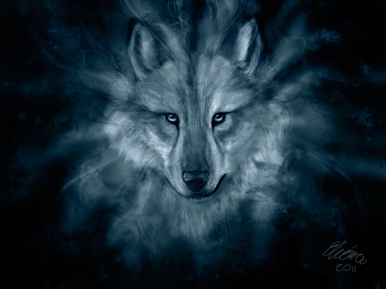 Native American Wolf Art | the spirit of a wolf by ...