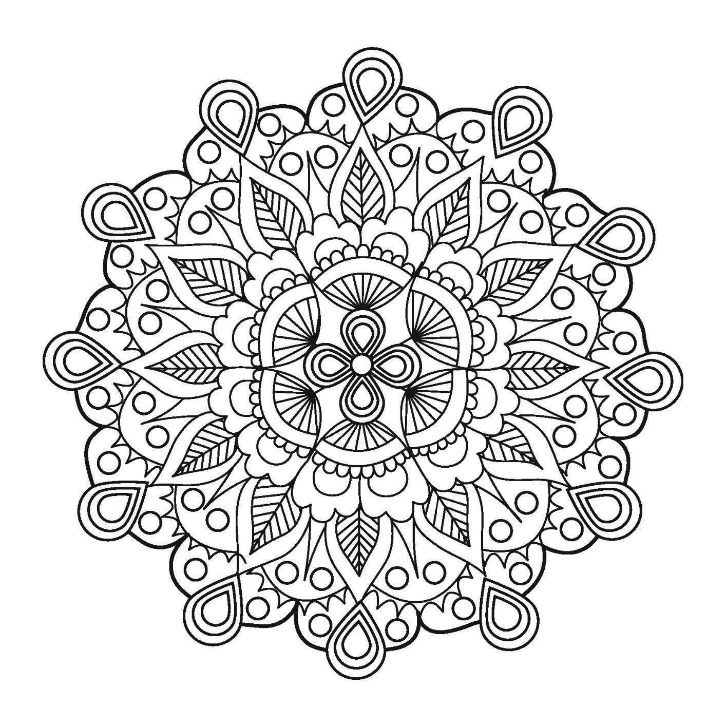 Mandalas For Beginners An Adult Coloring Book With Simple And Easy Designs Meditation