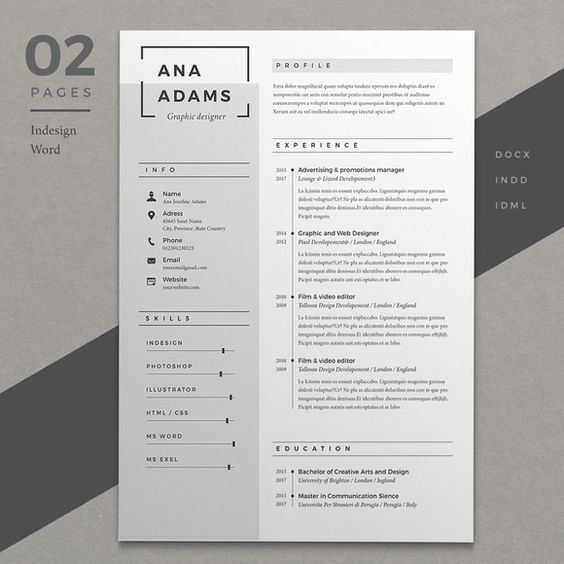 Professional Resume, CV template, Resume Template, Word Resume, 2 page resume+cover letter and references