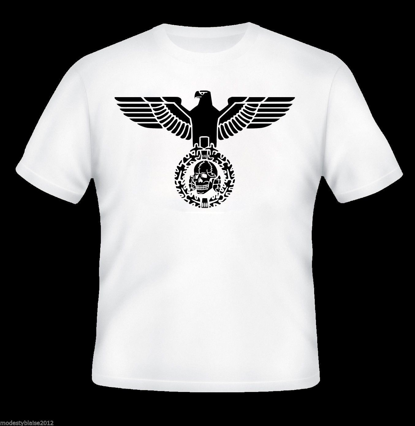 totenkopf deaths head iron eagle t shirt german. Black Bedroom Furniture Sets. Home Design Ideas