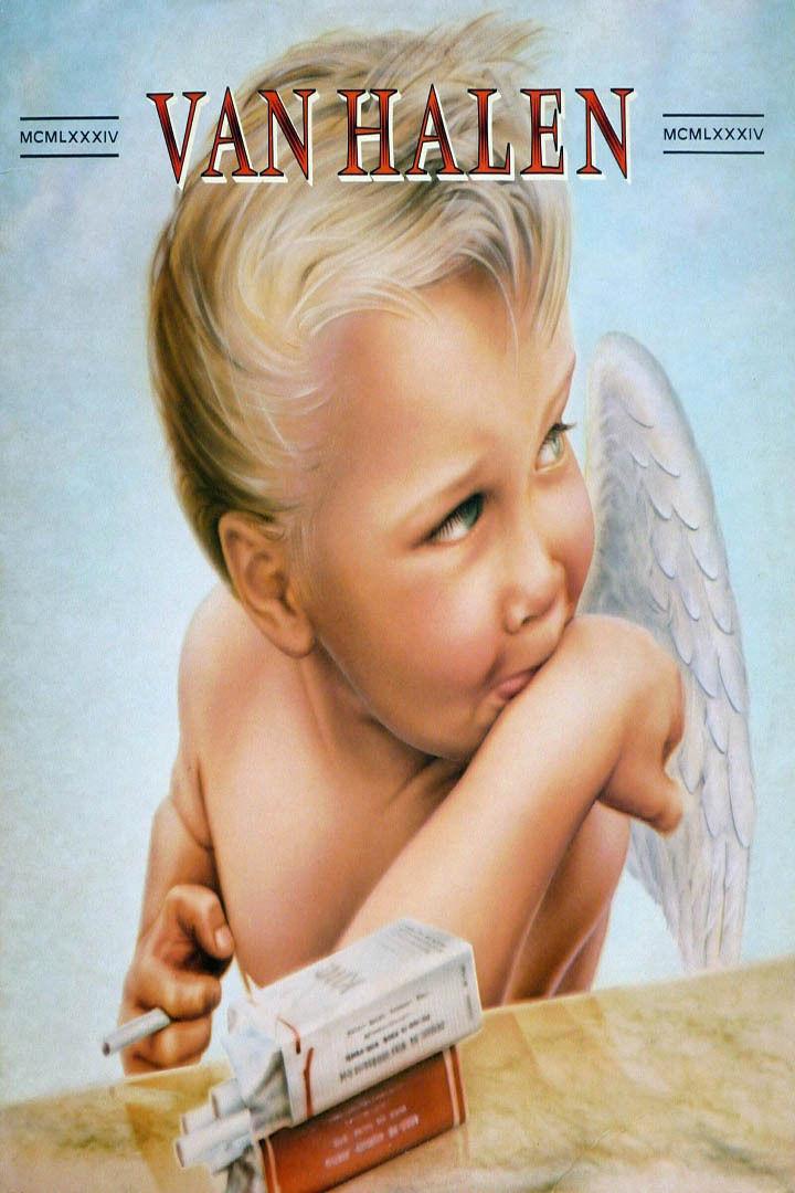 86600285a40  5.64 - J8397 1984 Van Halen Hard Rock Band Album Cover-Silk Cloth Art  Poster  ebay  Collectibles