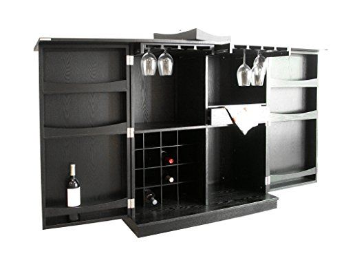 Proman Products WX17043 California FoldaWay Bar Cabinet Black *** Read More  At The Image