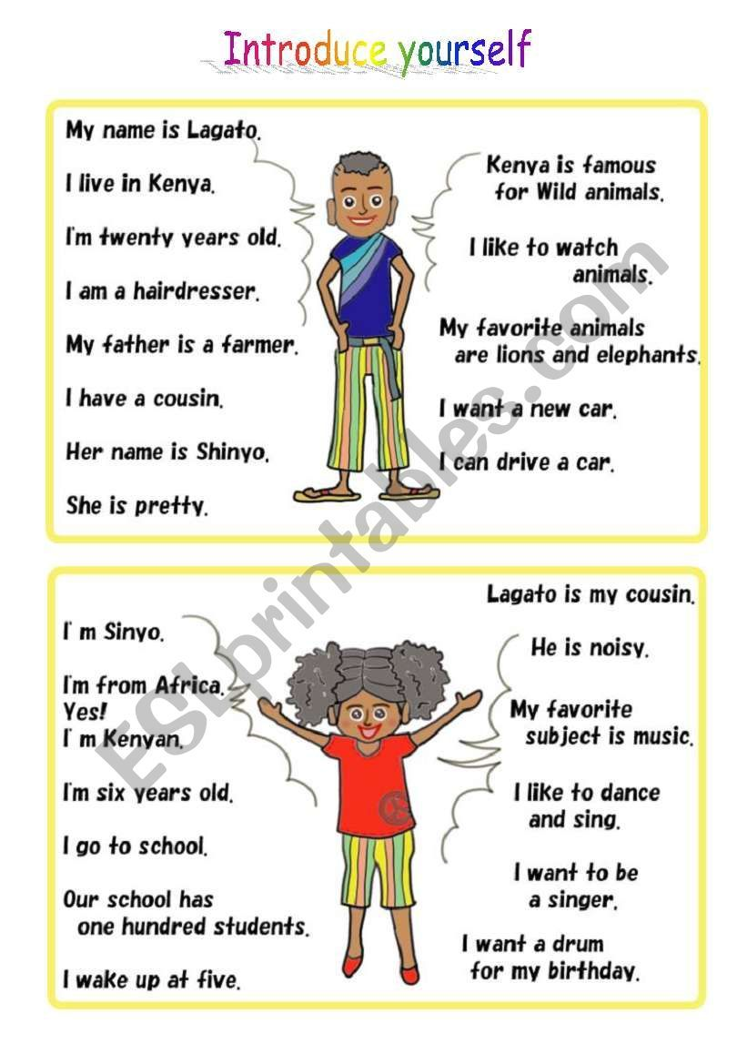 2 Persons Present Themself Introduce Yourself Lagato Boy And His Cousin Shinyo English Worksheets For Kids English Phrases Social Skills Groups [ 1169 x 821 Pixel ]
