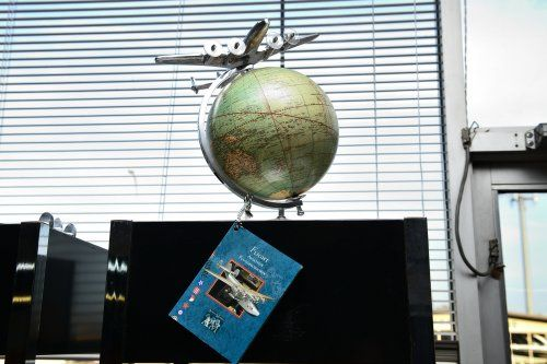 """Authentic Model's """"Top of the World"""" Globe, $60.00"""